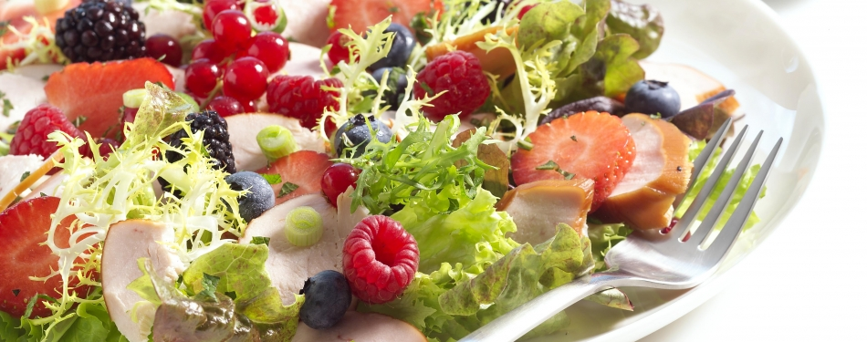 Salade met fruit