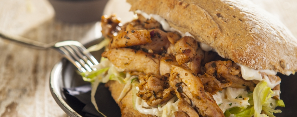 Cajun chicken sandwich<